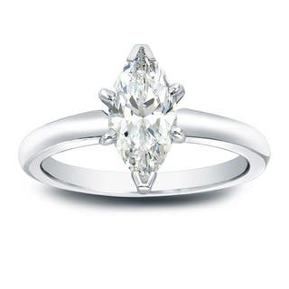 Auriya 14k Gold 1ct TDW Marquise-Cut Diamond Solitaire Engagement Ring|https://ak1.ostkcdn.com/images/products/6525650/P14110639.jpg?impolicy=medium