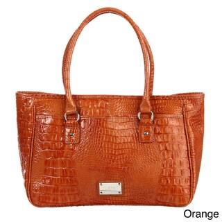 Nine West 'Tuffed Croco' Large Shopper Bag