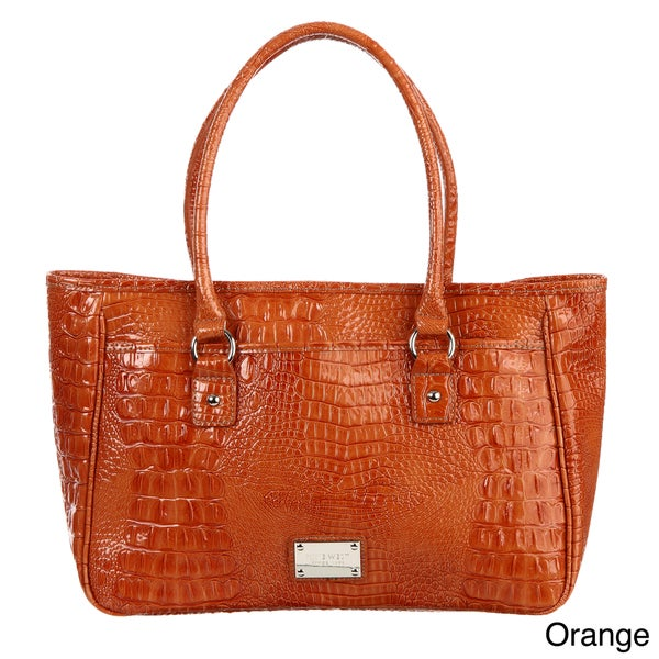 Nine West 'Tuffed Croco' Large Shopper Bag