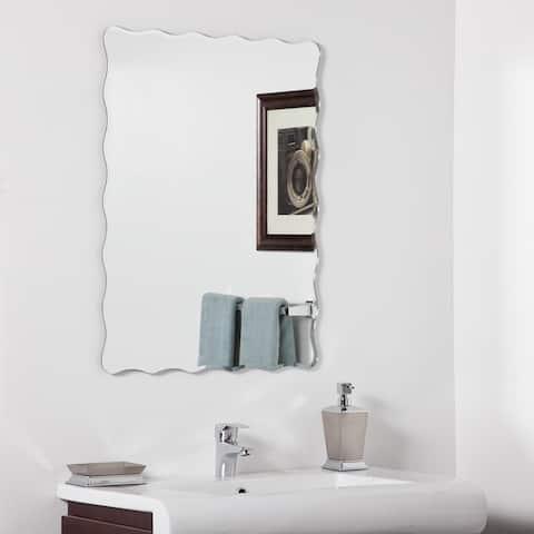 Angelina Modern Bathroom Mirror - Silver - A/N