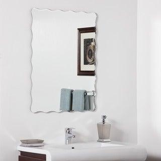 Angelina Modern Bathroom Mirror - Silver - 31.5Hx23.6Wx.5D