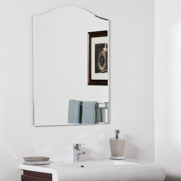 bathroom mirrors overstock shop amelia modern bathroom mirror free shipping today 11157