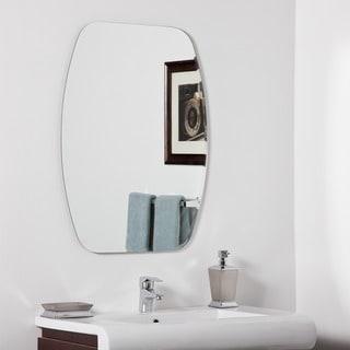 Great Decor Wonderland Sydney Silver Glass 31.5 Inch Frameless Modern Bathroom  Mirror