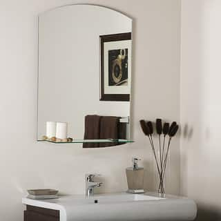 Vanessa Modern Bathroom Mirror Mirrors Bath For Less  Overstock com