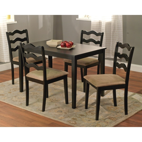 Simple Living Black 5-Piece Riviera Dining Set