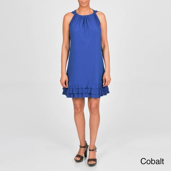 AnnaLee + Hope Women's Plus-size Ruffled Sleeveless Dress