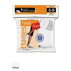 Hanes Women's White Cushion Extra Low-cut Socks (Pack of 6) - Thumbnail 1