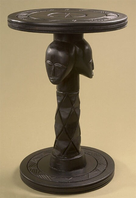 African Three Heads Accent Table (Ghana)