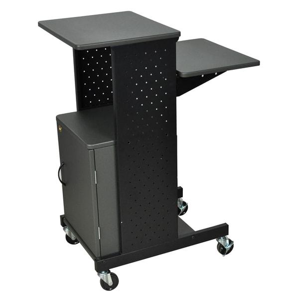 Shop Luxor Presentation Portable Workstation With Cabinet