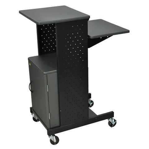 Luxor Presentation Portable Workstation with Cabinet