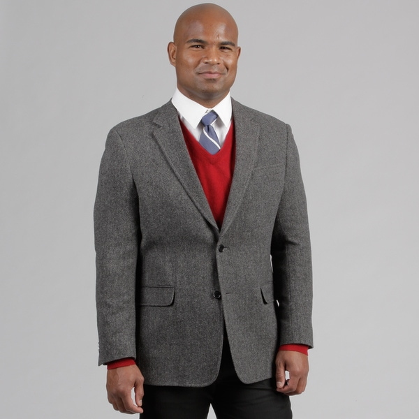 Tommy Hilfiger Men's Grey Herringbone Wool Sportcoat