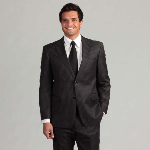 Tommy Hilfiger Men's Charcoal Pinstripe Wool Suit