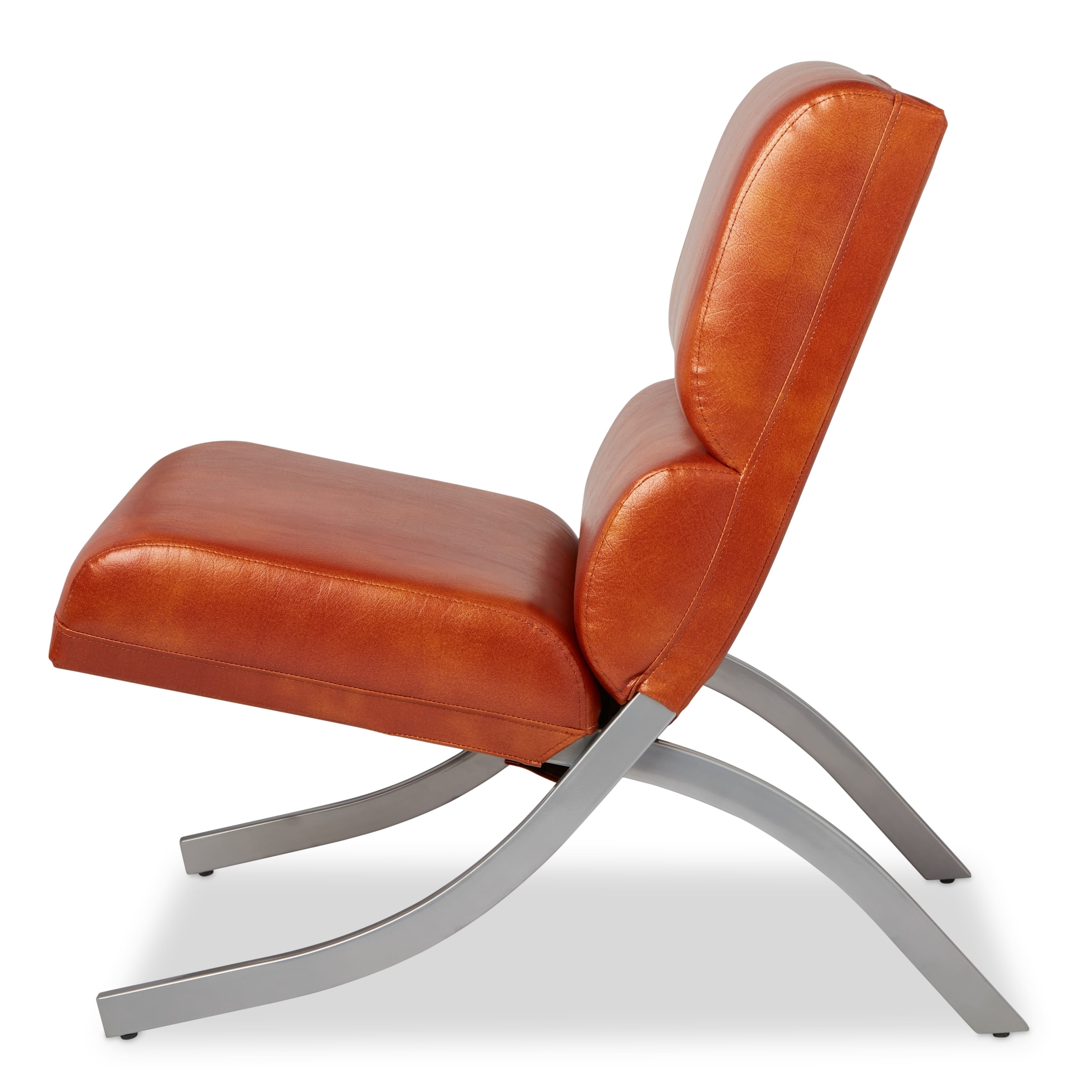 Rialto Rust Faux Leather Chair: Living Room Chairs For Less