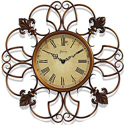 Province 24-inch Copper Colored Iron Wall Clock