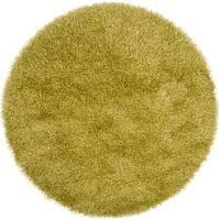 Hand-woven Green Kinich Soft Shag Area Rug - 6'