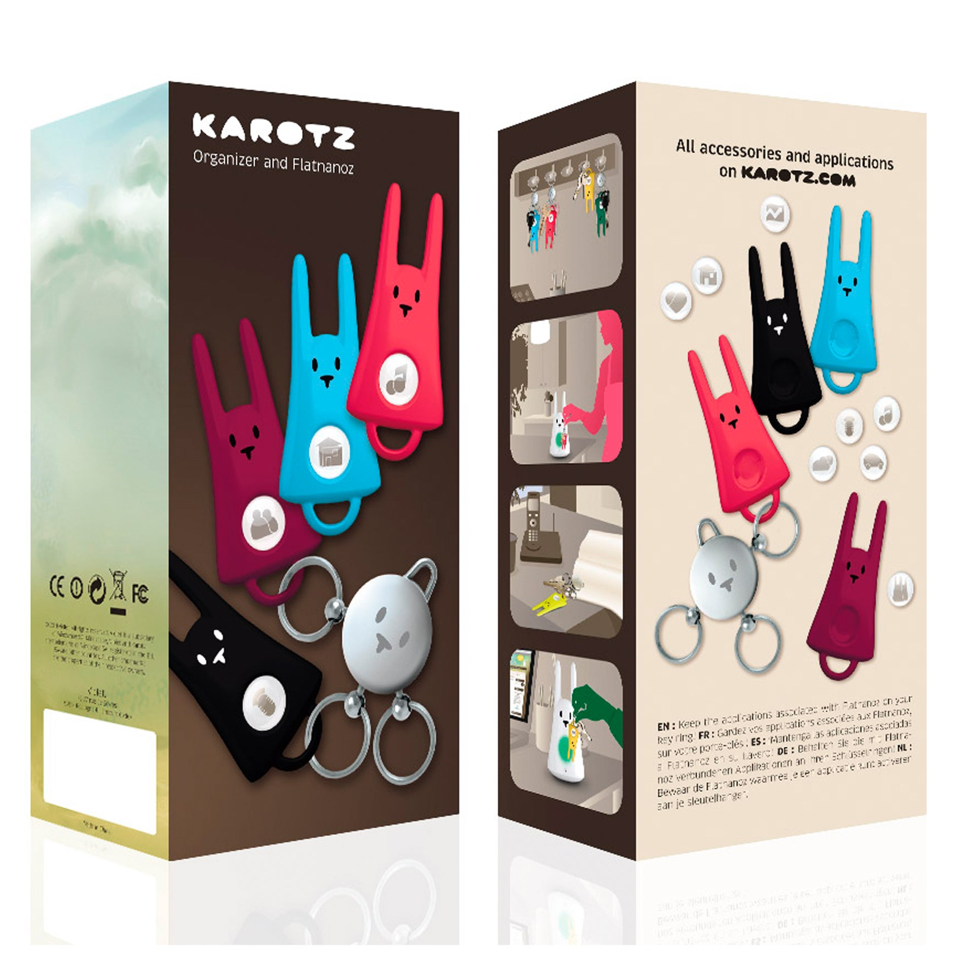 KAROTZ Key Ring and Four Flatnanoz - Thumbnail 0