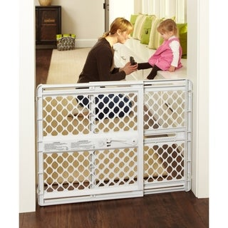 North States Supergate Classic Light Grey Plastic Child Gate