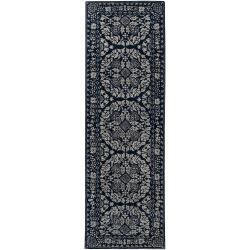 Hand-tufted Blue Ananke Oriental Pattern Wool Rug (2'6 x 8')