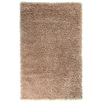 Hand-woven Gold Athena Soft Plush Shag Area Rug - 5' x 8'
