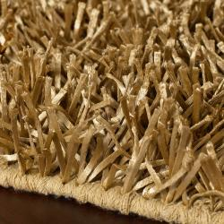 High Quality ... Hand Woven Gold Artemis Soft Plush Shag Rug (3u00276 X 5u0027 ...