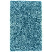 Hand-woven Blue Apollo Soft Plush Shag Area Rug - 5' x 8'