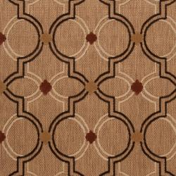 Woven Tan Tigua Indoor/Outdoor Moroccan Lattice Rug (8'8 x 12') - Thumbnail 2