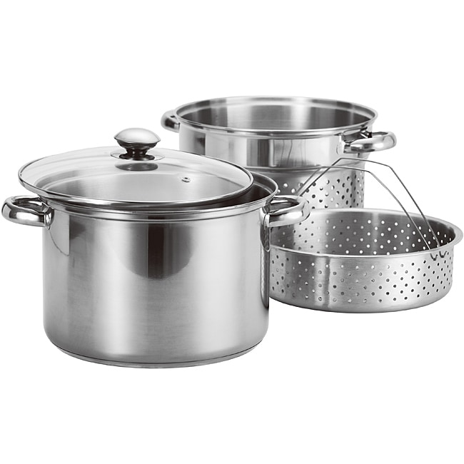 Prime Pacific 4-piece Stainless Steel Stock Pot and Pasta ...
