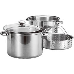 Prime Pacific 4-piece Stainless Steel Stock Pot and Pasta Steamer Set