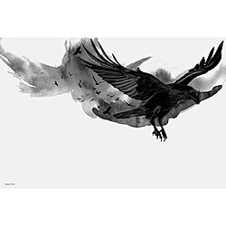 Maxwell Dickson 'The Ravens' Modern Canvas Wall Art