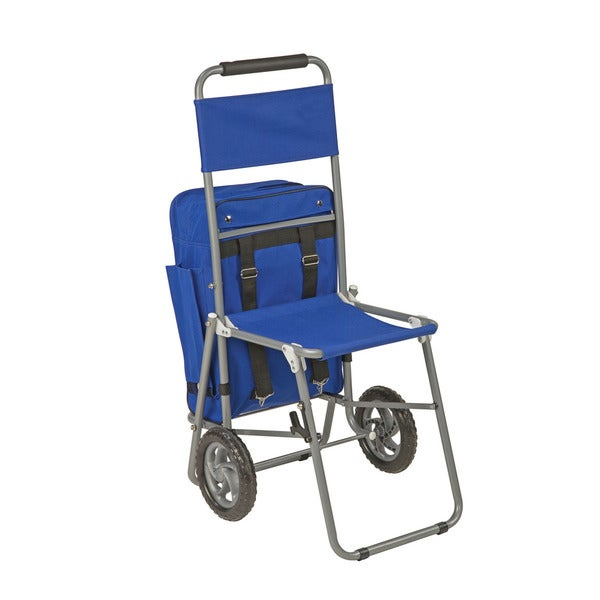 3 In 1 Shopping Cart Backpack Folding Chair With Wheels