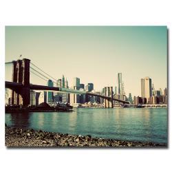 Copy of Ariane Moshayedi 'Brooklyn Bridge II' Canvas Art
