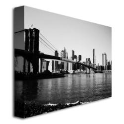 Ariane Moshayedi 'Brooklyn Bridge III' Medium Canvas Art - Thumbnail 1