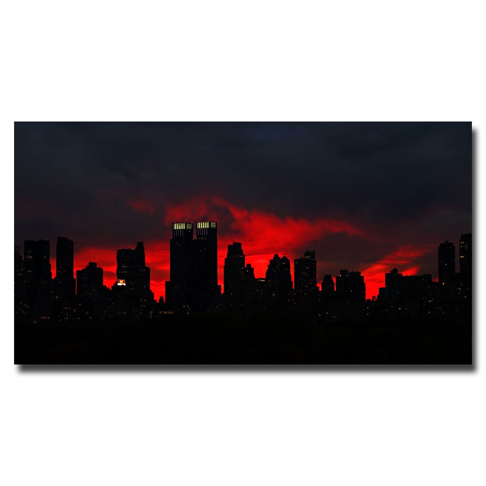 Contemporary Ariane Moshayedi 'Night Skyline' Canvas Art