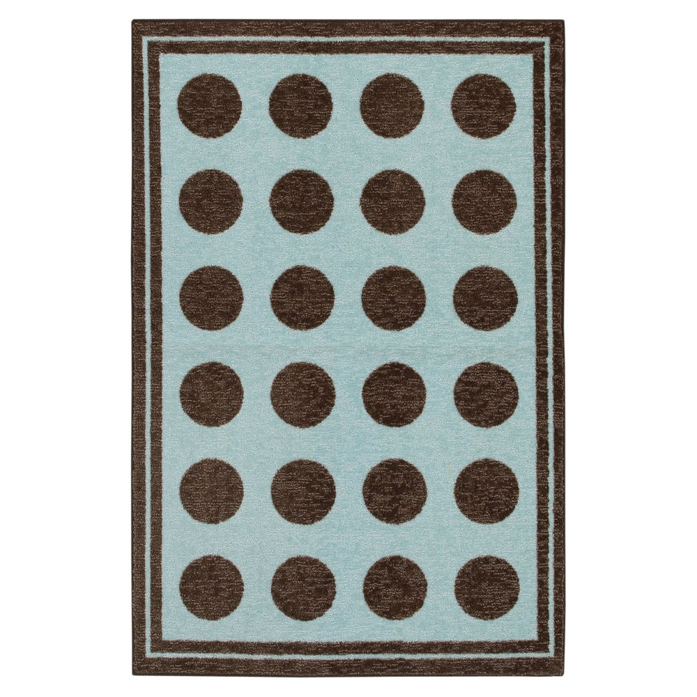 Mohawk Home Fluffy Aqua Blue Kids Rug (5' x 7')