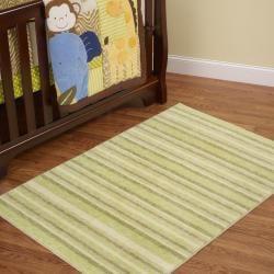 Cuddle Sage Green Kid's Rug (5' x 7') - Thumbnail 1