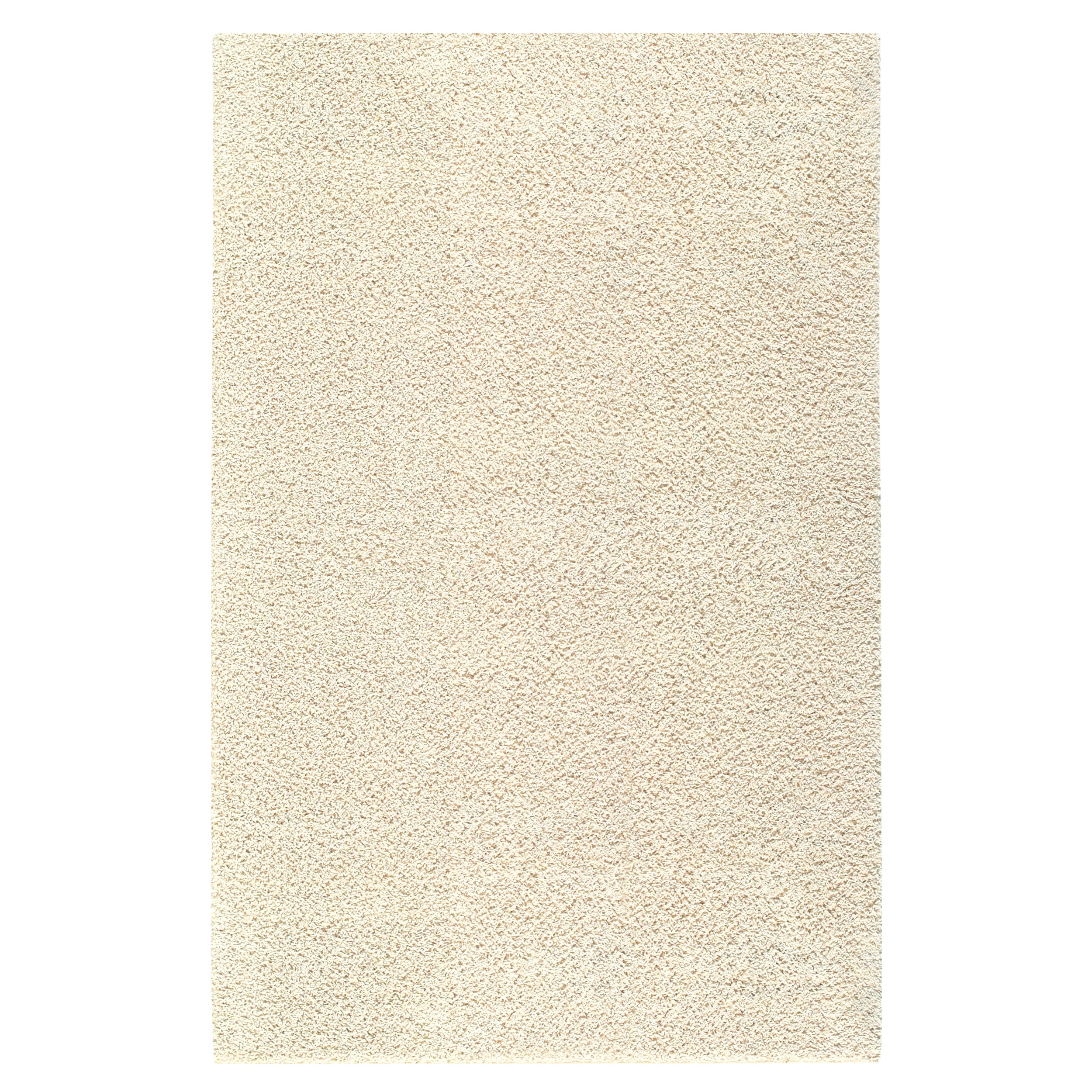 Solid Shag Starch Beige Rug (5' x 8') - Thumbnail 0