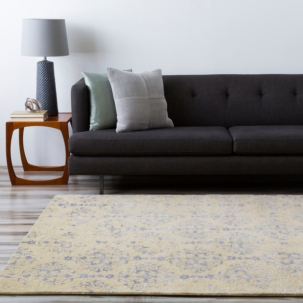 Hand-tufted Contemporary Navy Blue Accented Patterdale New Zealand Wool Abstract Area Rug - 8' X 11'