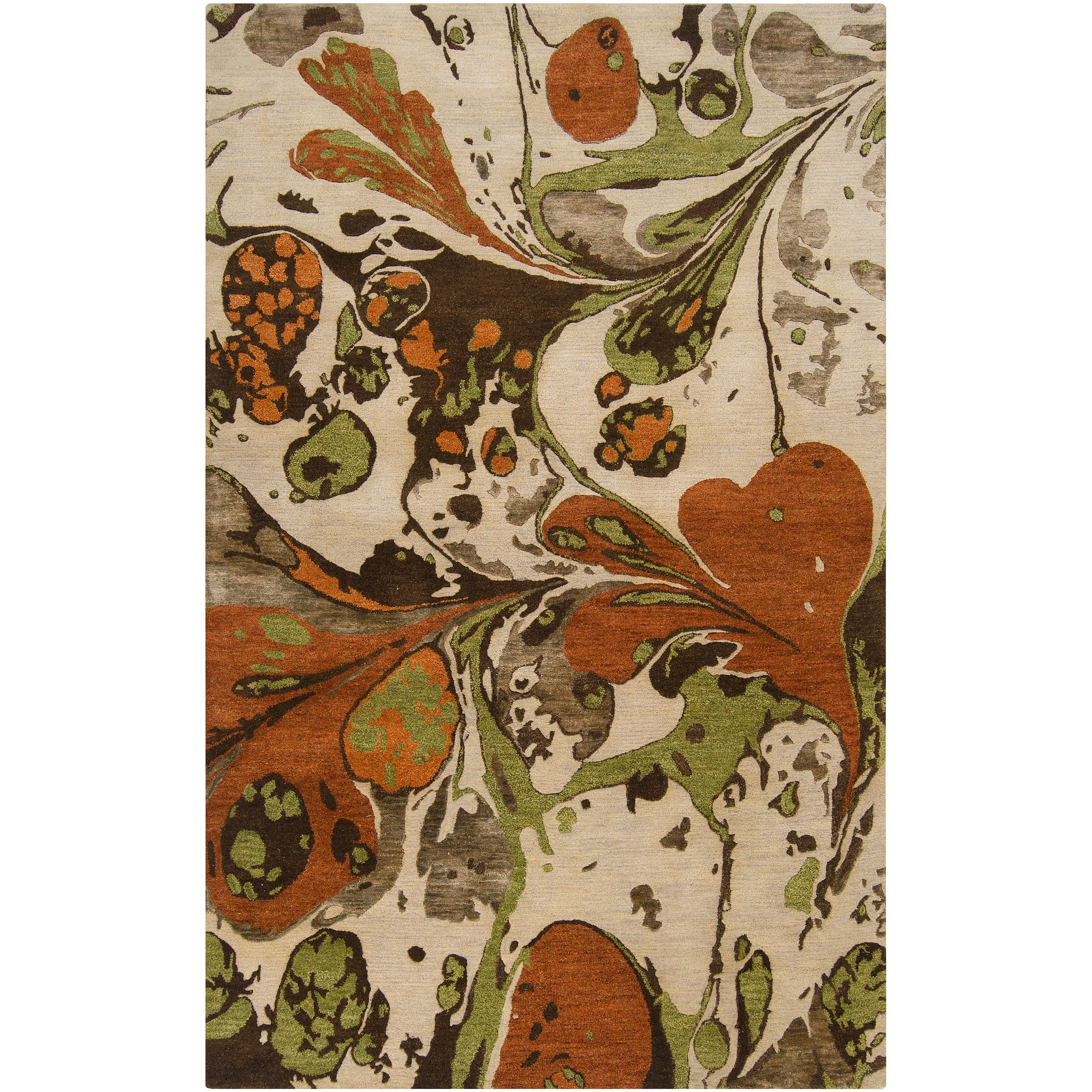 Hand-tufted Contemporary Multi Colored Poodle New Zealand Wool Abstract Area Rug - 8' x 11'