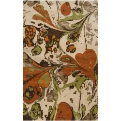 Hand-tufted Contemporary Multi Colored Poodle New Zealand Wool Abstract Rug (3'3 x 5'3)