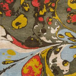 Hand-tufted Contemporary Multi Colored Perro New Zealand Wool Abstract Rug (3'3 x 5'3) - Thumbnail 2