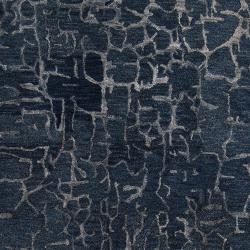 Hand-tufted Contemporary Blue Papillion New Zealand Wool Abstract Rug (5' x 8') - Thumbnail 2