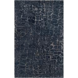 Silver Orchid Michel Hand-tufted Contemporary Blue Papillion New Zealand Wool Abstract Area Rug - 5' x 8' - Thumbnail 0