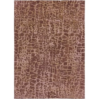 Hand-tufted Contemporary Mastiff New Zealand Wool Abstract Area Rug - 8' x 11'/Surplus