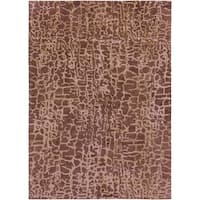 Hand-tufted Contemporary Mastiff New Zealand Wool Abstract Area Rug - 8' x 11'