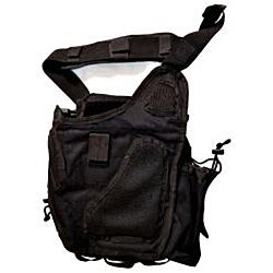 SecProUSA Ergo Tactical Black Nylon Bag with Adjustable Straps - Thumbnail 1