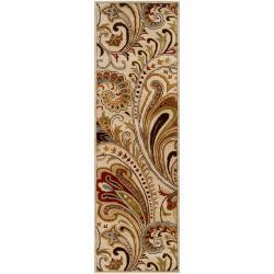 Hand-tufted Beige Havanese Wool Rug (2'6 x 8')