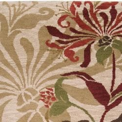 Hand-knotted Beige Berrer Wool Rug (8' x 11')