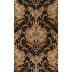 Hand-tufted Black Elkhound Wool Rug (3'3 x 5'3)