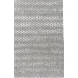 Silver Orchid Pradot Hand-tufted Solid Grey Wool Area Rug - 5' x 8' - Thumbnail 0