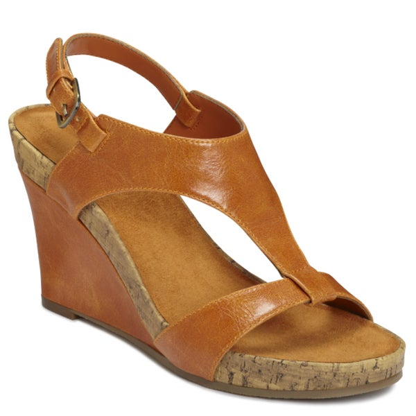 be98ff9b9f6 Shop A2 by Aerosoles Women s  Plush Above  Orange Wedge Sandals - Free  Shipping Today - Overstock.com - 6528069